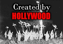KKK crosses were created in Hollywood