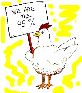 The 95% are chickens