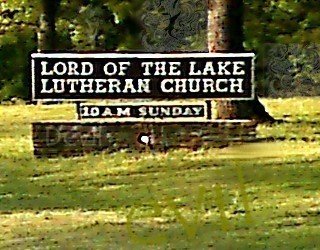 Lord of the Lake sign